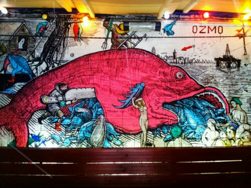 Mural by Ozmo in Cargo on Rivington Street