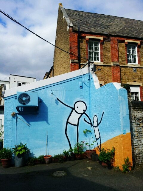 Dulwich boasts some great work around the whole area such as this one from Stik