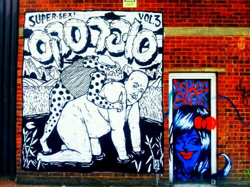 One of the Broken Fingaz 'Super Sex' series on Bream Street