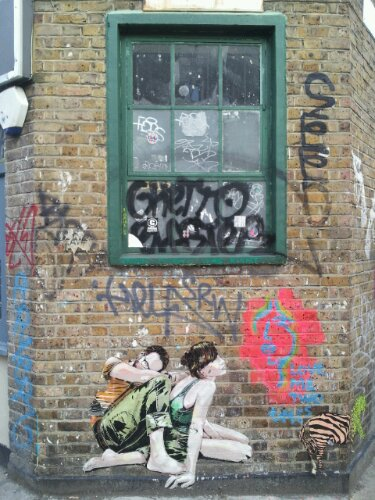 On the corner of Redchurch Street and Chance Street in Shoreditch