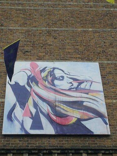 Hannah Adamaszek also had a painting on the street