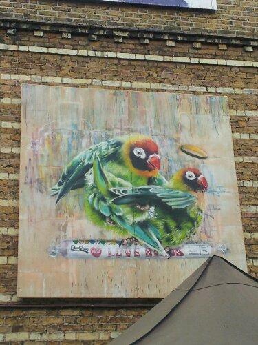 Louis Masai painted these beautiful parakeets