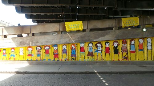 It's all change for the Stik mural