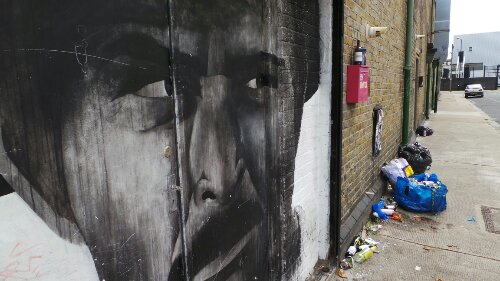 Ben Slow's portrait on Stour Road is still going strong.