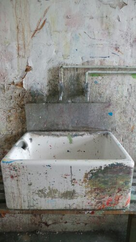 An interesting sink seen inside one of the studios on Fish Island