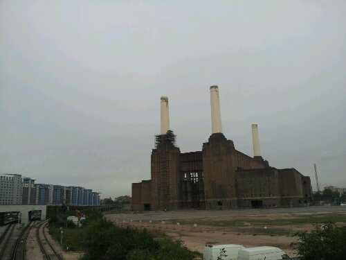 Battersea power station as seen from Chelsea Bridge is as iconic as they come in building terms