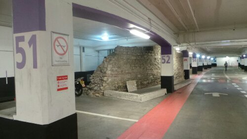 It's a peculiar location for a section of Roman Wall
