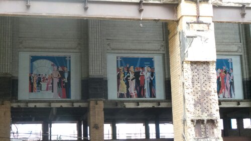 The A Station built in the 1930's wasn't accessible but could be seen sporting some random paintings