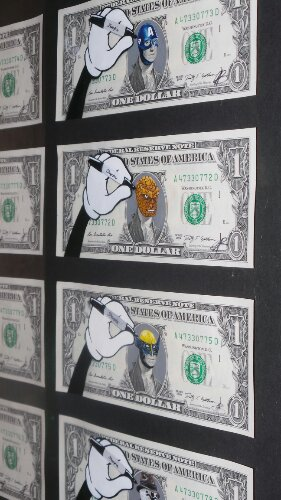 Lewis Bannister gives a whole new life to one dollar bills