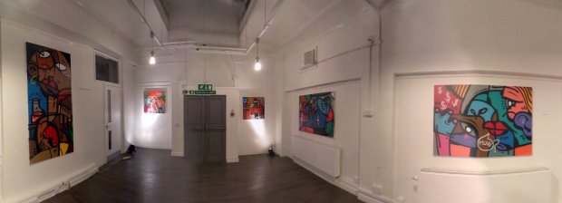 One of the rooms in the Cre8 Gallery