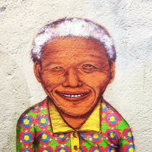 Iconic Brazilian street artist Os Gemeos posted this lovely portrait in his immediately identifiable style