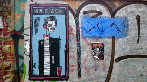 Alo getting in on the act with this piece in a little alley just off White Post Lane