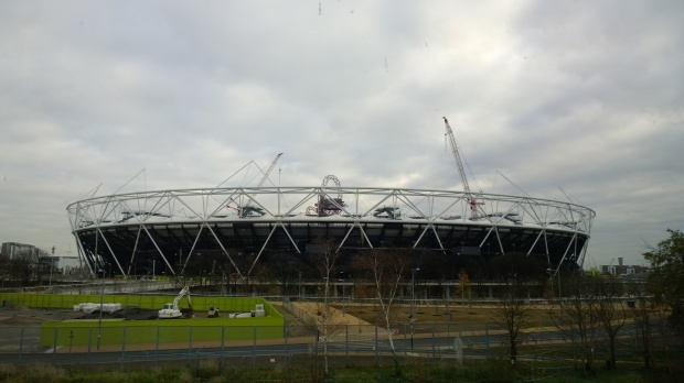 The Olympic Stadium as seen from the Forman Smokehouse Gallery