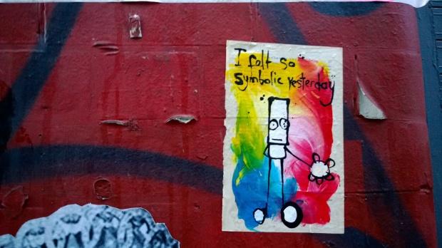 """""""I felt so symbolic yesterday"""" Hug on Grimsby Street"""
