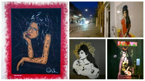 Around the Camden area there are loads of tributes to Amy Winehouse.