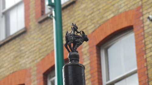 Look up around the streets of Spitalfields and you might well see gems like this on Brick Lane