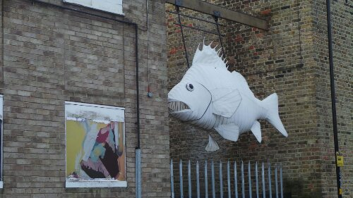 A Giant Fish on Orchard Place