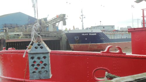 Ships still come into the Wharf