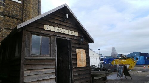Michael Faraday's hut on the Wharf