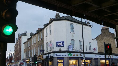 A great piece from Space Invader bang on the junction with Coldharbour Lane and Atlantic Road
