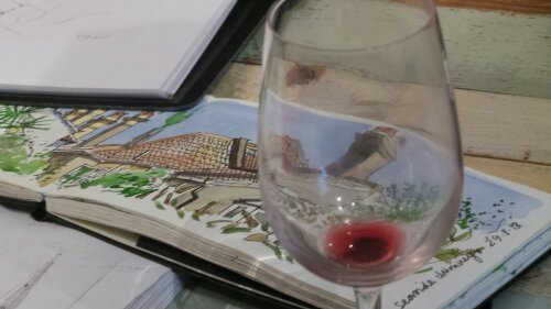 Sketch Book and Wine