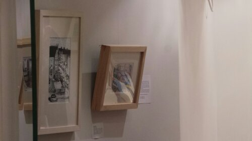 Pictures were on display in the downstairs area of the Timberyard