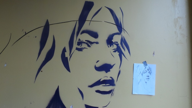 Whilst Hannah's stencil took next to no time to complete it was remarkably faithful to the original sketch