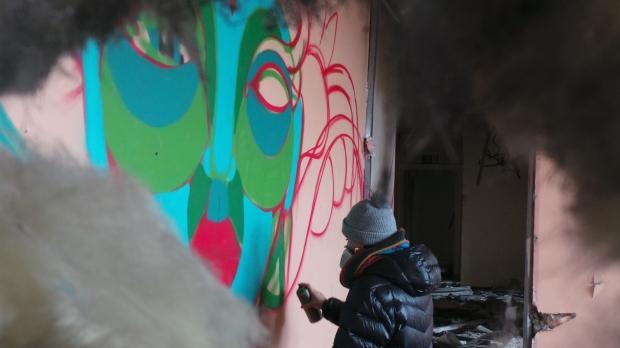 Art through the wall... literally