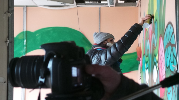 Filming was also taking place to record the project