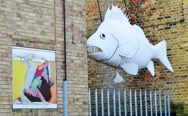 Trinity Buoy Wharf is an interesting place.  Here is a giant fish randomly hanging