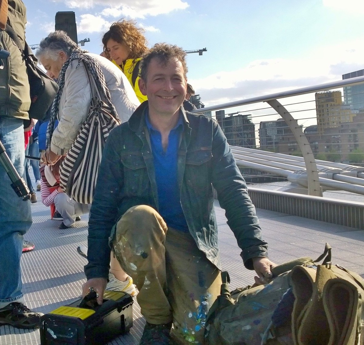 The Chewing Gum Man Paints a Trail of 400 Mini-Artworks on the Millenium Bridge