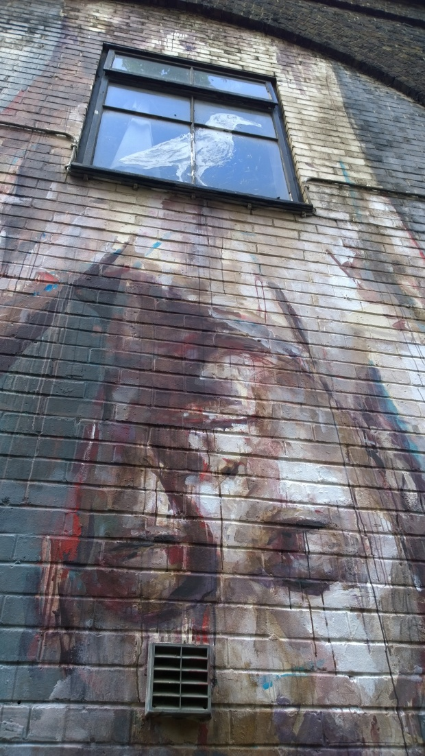 Spanish artist Borondo creates pieces of work that look like they should be painted with oils on a canvas