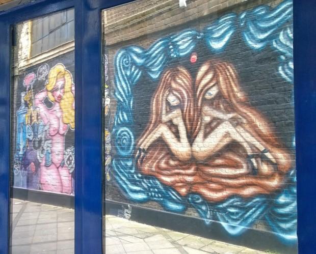 Vanessa Longchamp art reflecting in the window