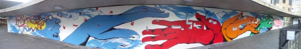 The mural from RUN in the Rotunda