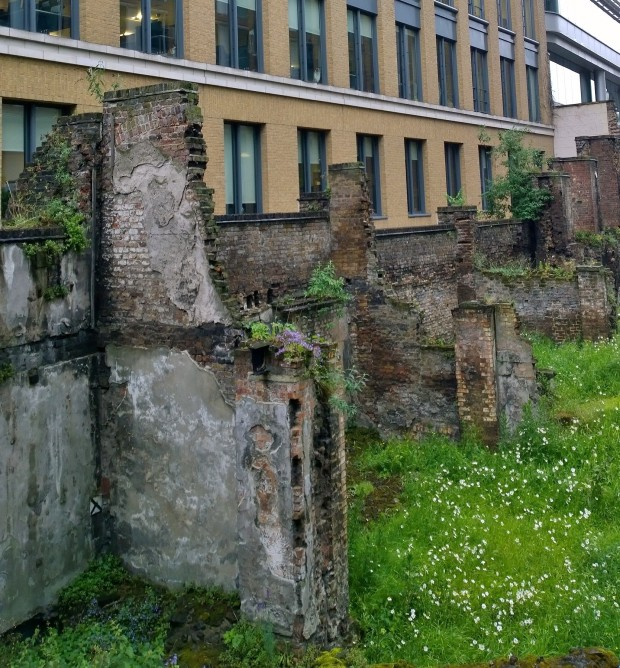 Sections of the Old Roman Fort on Noble Street