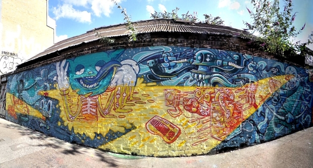 The finished Lost Souls mural