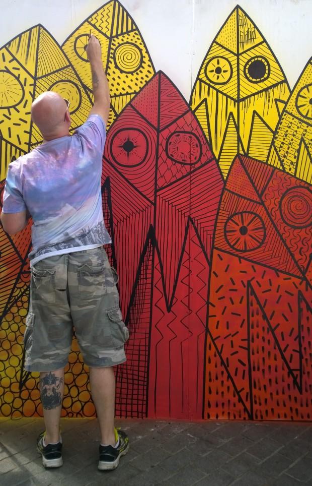 616 painting on Whitecross Street