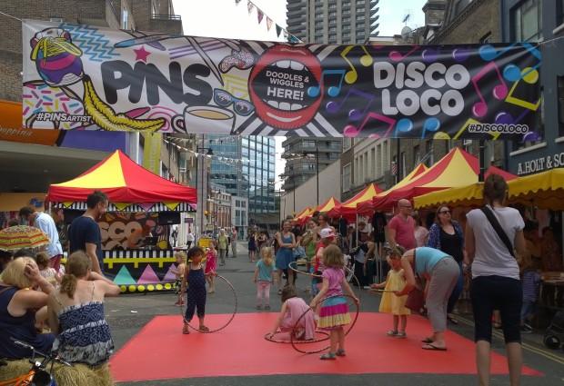 PINS mini disco and art workshop