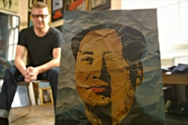 McCarthy by his portrait of Mao, recreated from a picture of a painting from Andy Warhol