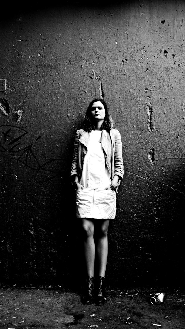 Sabina photographed inside the Leake Street Tunnel