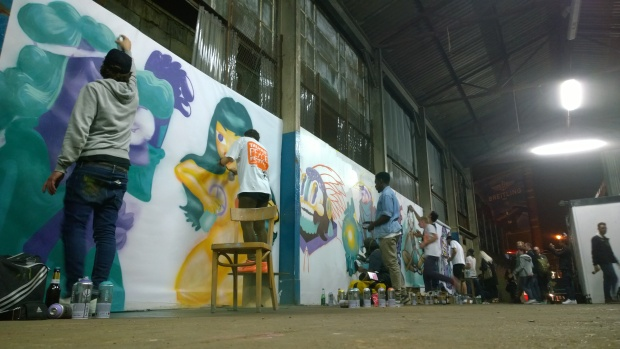 Artists combine in Shoreditch Yard to Paint for Peace