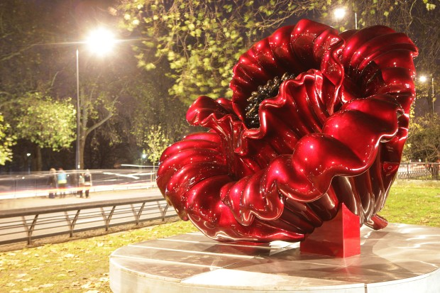 'Love' installed on Park Lane in 2012