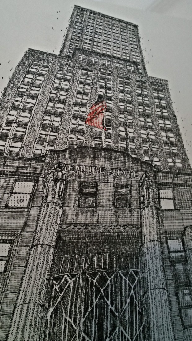 The Empire State Building created on a typewriter by Kiera Rathbone