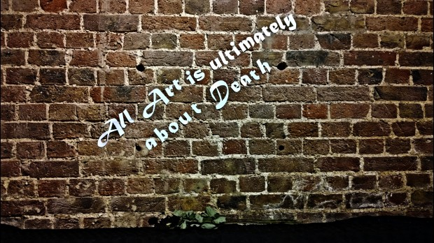 'All art is ultimately about Death' a quote from ROA in the gallery