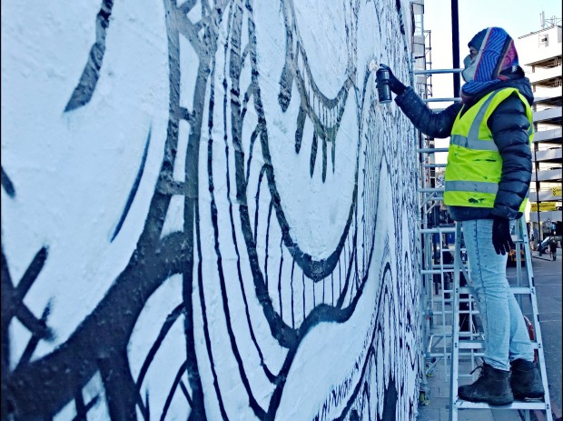 The wall is one of the most iconic street art spots in London