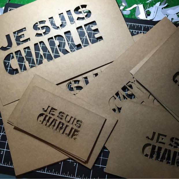 Je Suis Charlie stencils C215