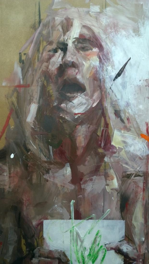 Borondo art in the Epilogos room