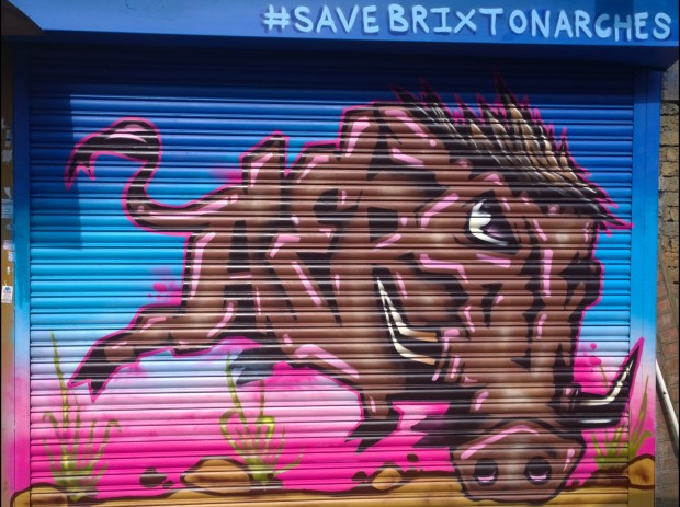 Aero painted this shutter in support of the campaign