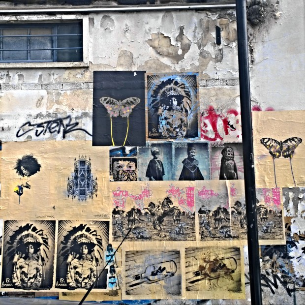 Paste ups by Donk on Toynbee Street