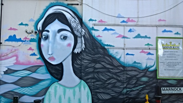 One of the biggest murals of the festival and certainly one of the most eye catching